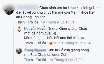 Khi có người lạ nhầm lẫn và hỏi mình đẻ chưa, Huyền Trang không ngần ngại đùa vui lại.