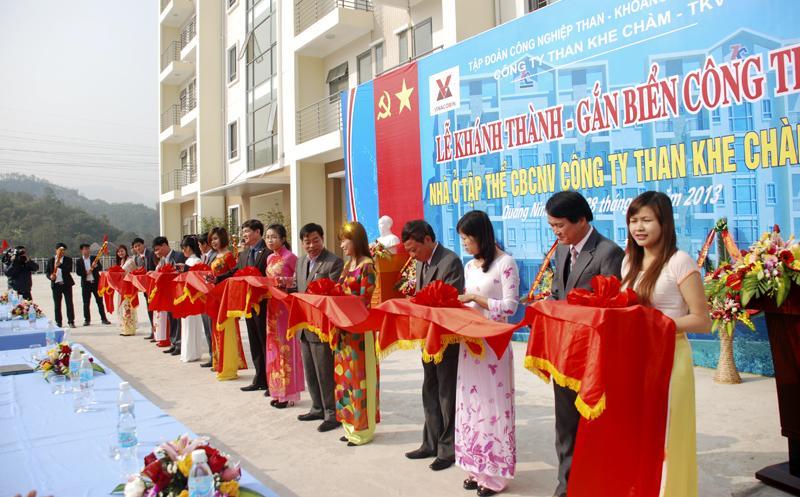 Cty than Khe Chàm khánh thành công trình Nhà ở tập thể CBCNV.