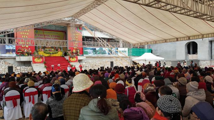 Buổi lễ có sự tham dự của đông đảo các phật tự địa phương và du khách thập phương.