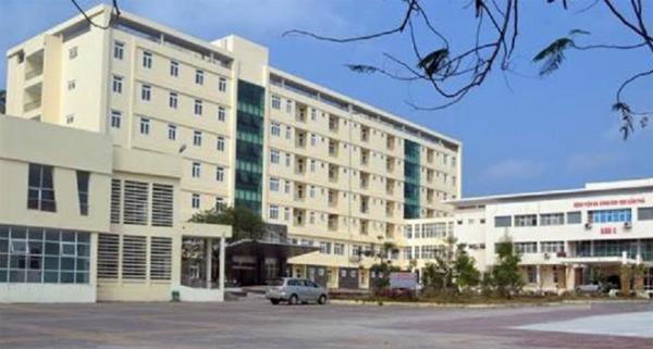 Bệnh viện đa khoa Cẩm Phả - nơi nạn nhân nhảy từ tầng 6 xuống. Nguồn cand.com.vn
