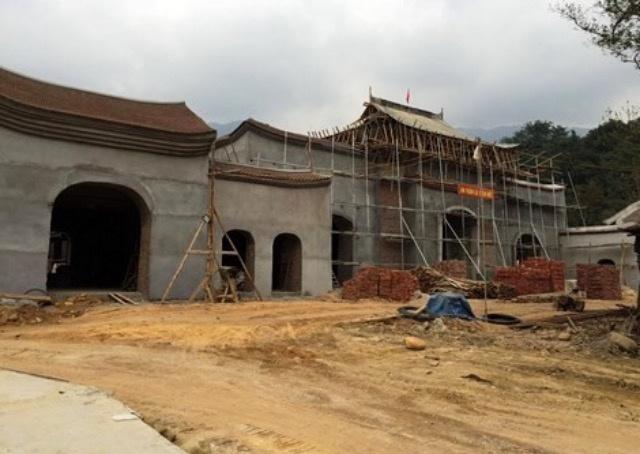 Trung tâm lễ hội Yên tử đang trong giai đoạn hoàn thiện.