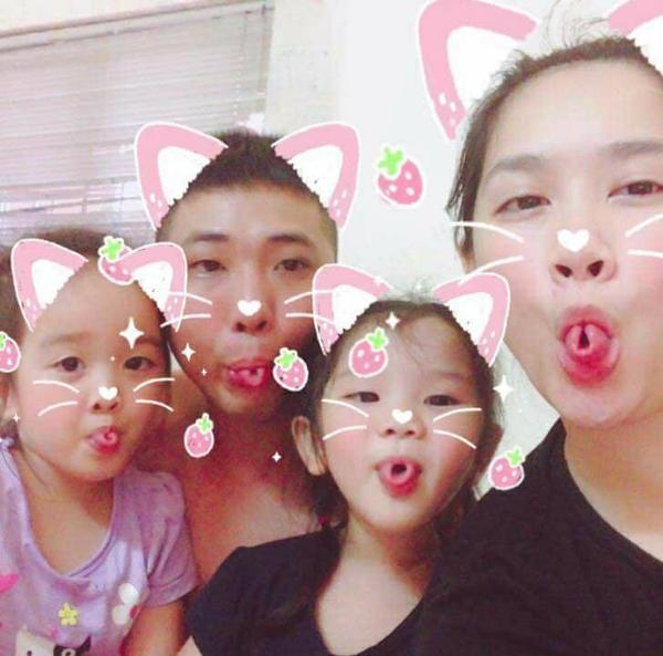 Hình ảnh hài hước của gia đình chị Trang.