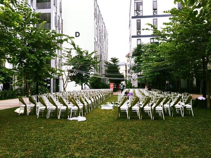 Không gian tổ chức tiệc của một đám cưới. (Ảnh: Nhân vật cung cấp).