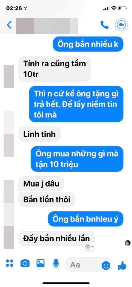 Đoạn hội thoại giữa M.T.N với anh Đ.M.T