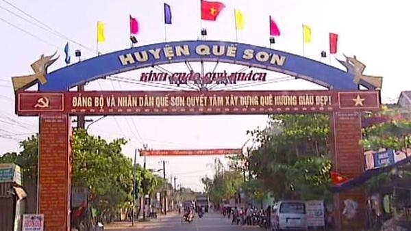 Huyện Quế Sơn nơi ông D công tác