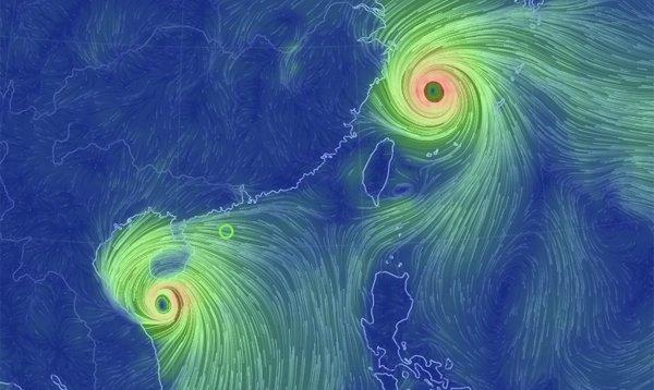 So sánh trường gió bão số 10 và siêu bão Talim đang đổ bộ vào Nhật Bản, Trung Quốc
