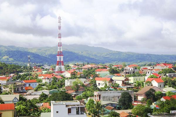 Một góc của thị trấn Khe Sanh, huyện Hướng Hóa