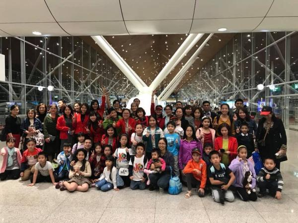 Đoàn Việt Nam tại sân bay quốc tế Malaysia