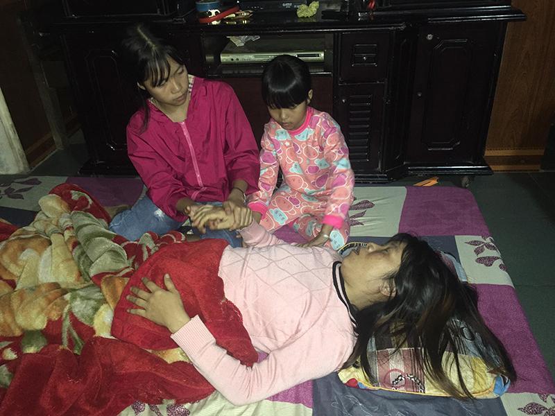 Hoàn cảnh gia đình anh Vương rất cần được giúp đỡ