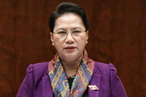 Chủ tịch Quốc hội Nguyễn Thị KIm Ngân phát biểu sáng 11/6. Ảnh: Hoàng Phong