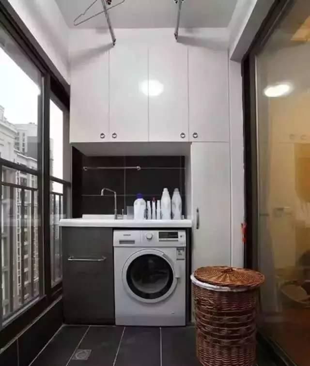 Không gian giặt và phơi quần áo.