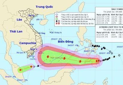 Việt Nam sắp phải hứng chịu cơn bão cuối mùa -bão số 16.