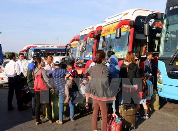 Xe khách không tăng giá vé dịp nghỉ lễ 2/9. Ảnh: TTXVN