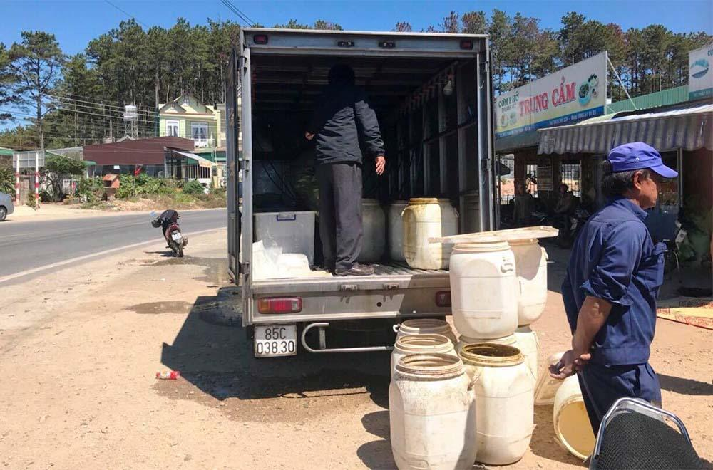 Chiếc xe tải, nơi xảy ra vụ việc. Ảnh: vietnamnet.vn