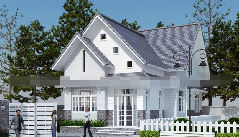 Căn biệt thự mang nét kiến trúc hiện đại pha lẫn vẻ đẹp nhẹ nhàng và tinh tế. Ảnh: Thietkenhadepmoi.