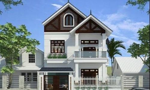 Công trình nổi bật với kiến trúc biệt thự mini 1 trệt 1 lầu phong cách hiện đại. Ảnh: Xaydungducloc.