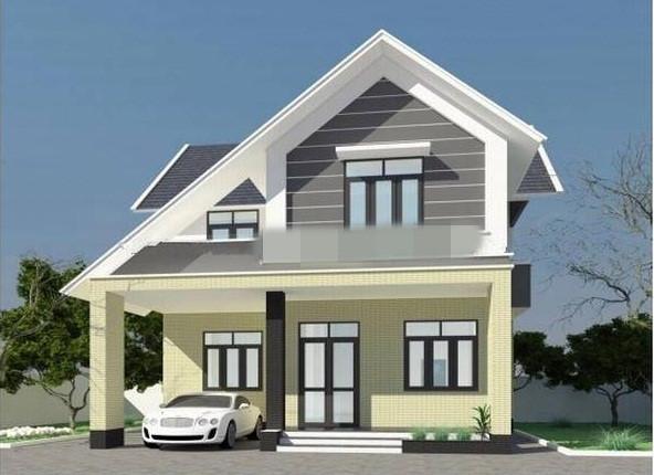 Mẫu biệt thự 2 tầng đơn giản 70 - 80m2 là lựa chọn phù hợp với các gia đình trung lưu. Ảnh: Thietkenhadepmoi.