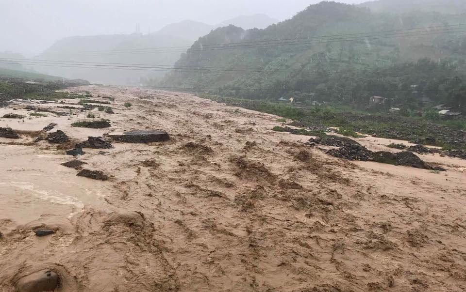 Lũ quét tại xã Nặm Păm, huyện Mường La, Sơn La
