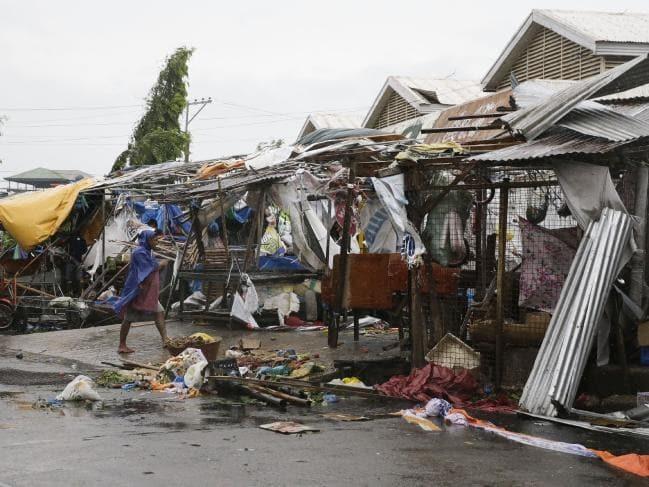 Một khu chợ ở thành phố Tuguegrao, tỉnh Cagayan. Ảnh: AP