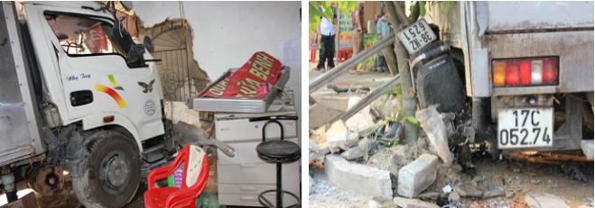 Hiện trường vụ tai nạn ở Hà Tĩnh.
