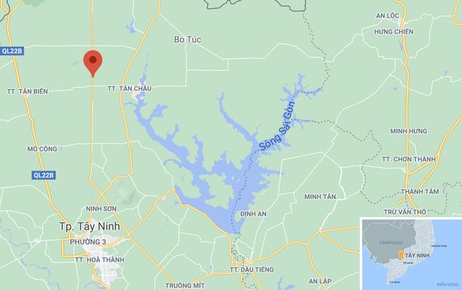 Vụ t.ai nạ.n xảy ra trên đường ĐT793, huyện Tân Biên. Ảnh: Google Maps.