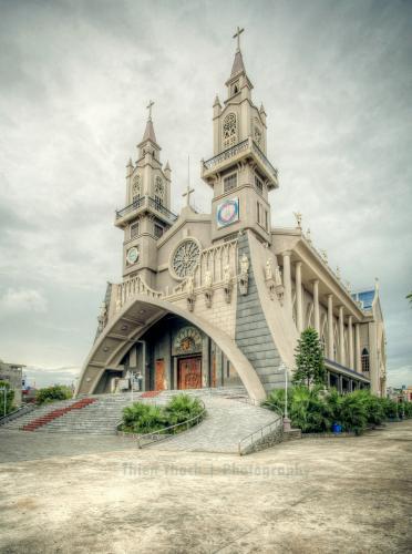 Chiêm ngưỡng vẻ đẹp hiếm có của nhà thờ từ một góc nhìn khác