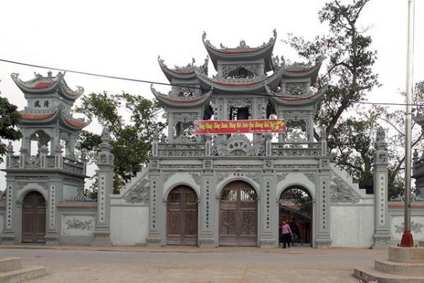 Di tích lịch sử tâm linh đền Tiên La. Ảnh: Internet