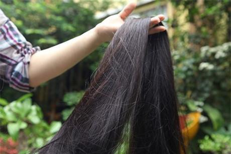 Kể về bí quyết chăm sóc mái tóc, chị cho biết, thực sự chẳng có bí quyết gì. Gội bằng nước lã với các loại lá như lá chanh, lá bưởi, sả… nếu bận không có lá tôi dùng ít dầu gội.