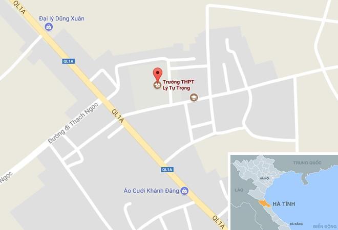 Trường THPT Lý Tự Trọng đóng ở thị trấn Thạch Hà, huyện Thạch Hà, Hà Tĩnh.