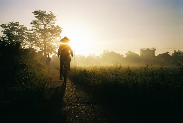 Yêu lắm cảnh vật vùng quê lúa Thái Bình. (Ảnh: Trần Đình Trọng)