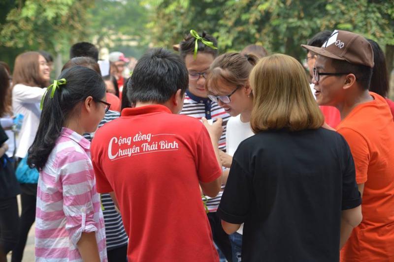 Chào Tân sinh viên 2016 được tổ chức tại Hà Nội. (Ảnh: FB Cộng đồng Chuyên Thái Bình)