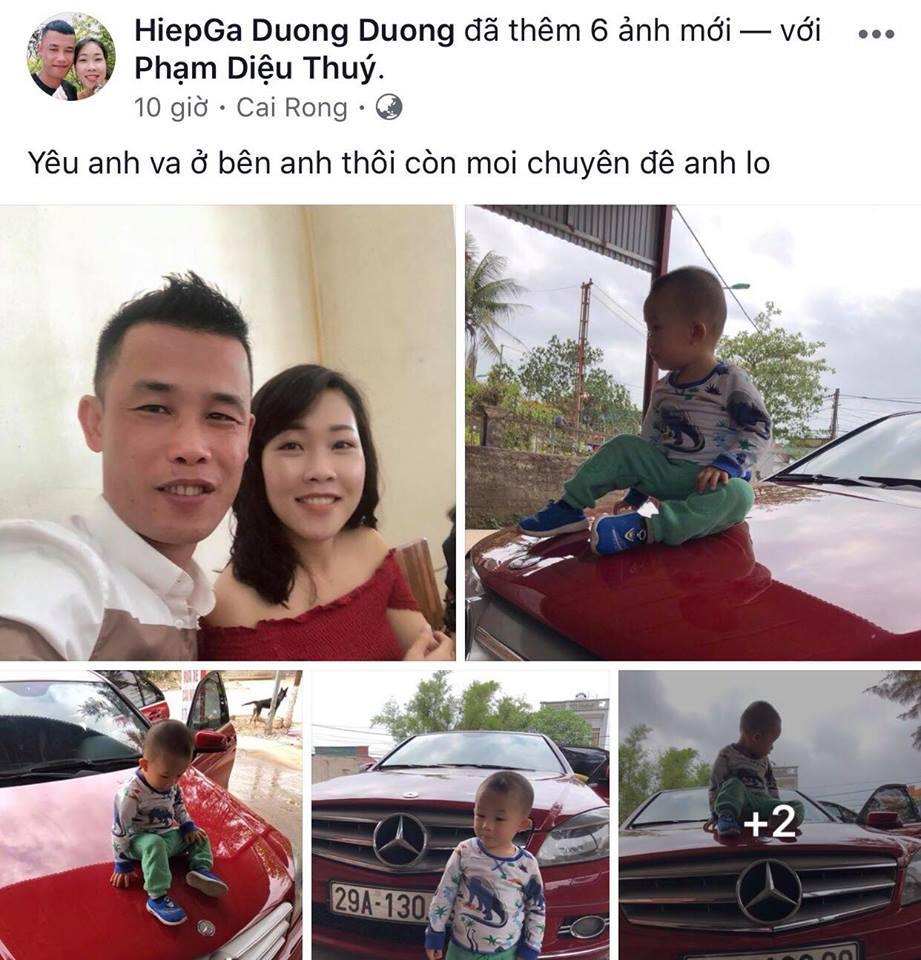Trên trang cá nhân, Hiệp Gà khoe mới mua xe ô tô.