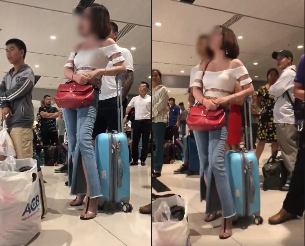 Người phụ nữ bức xúc vì bị hủy chuyến tại sân bay Nội Bài