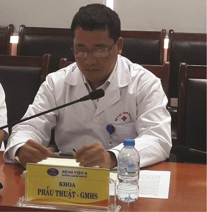 PGS.TS Lê Văn Quảng- Phó Giám đốc Bệnh viện K cho hay hạt nano vàng mới được thử nghiệm trong ống nghiệm và tiêm trên động vật, chưa có nghiên cứu trên người bệnh ung thư