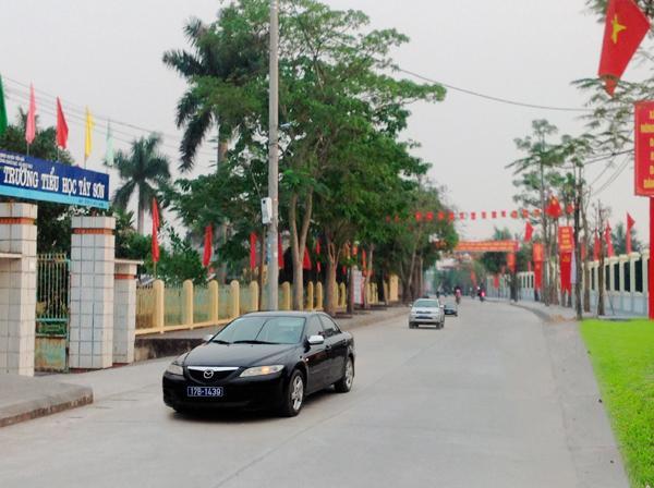 Đường giao thông nông thôn ở xã Tây Sơn.