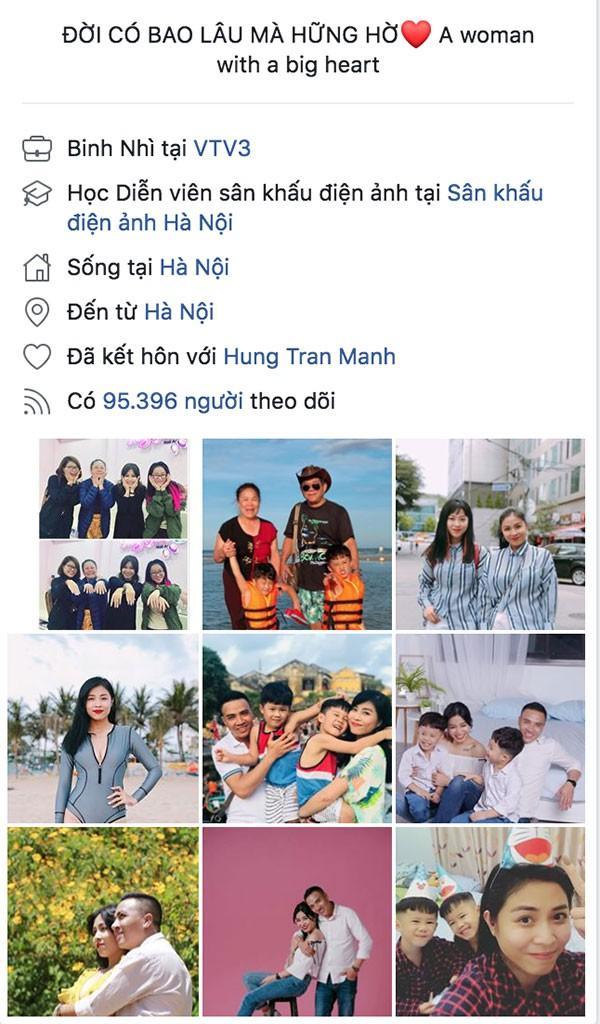 """Trang cá nhân của Hoàng Linh đã cập nhật tình trạng quan hệ """"Đã kết hôn"""" với Mạnh Hùng."""