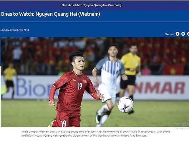 AFC đánh giá rất cao Quang Hải.