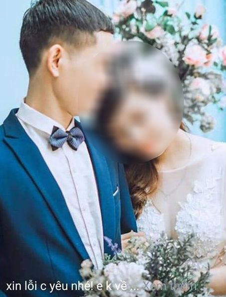 Hình ảnh cưới của anh chồng và bồ trẻ
