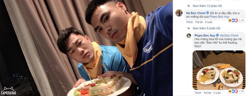 Chàng tiền vệ cao 1,73 m của tuyển Việt Nam nổi tiếng với sự hài hước trên mạng xã hội. Ảnh chụp màn hình.