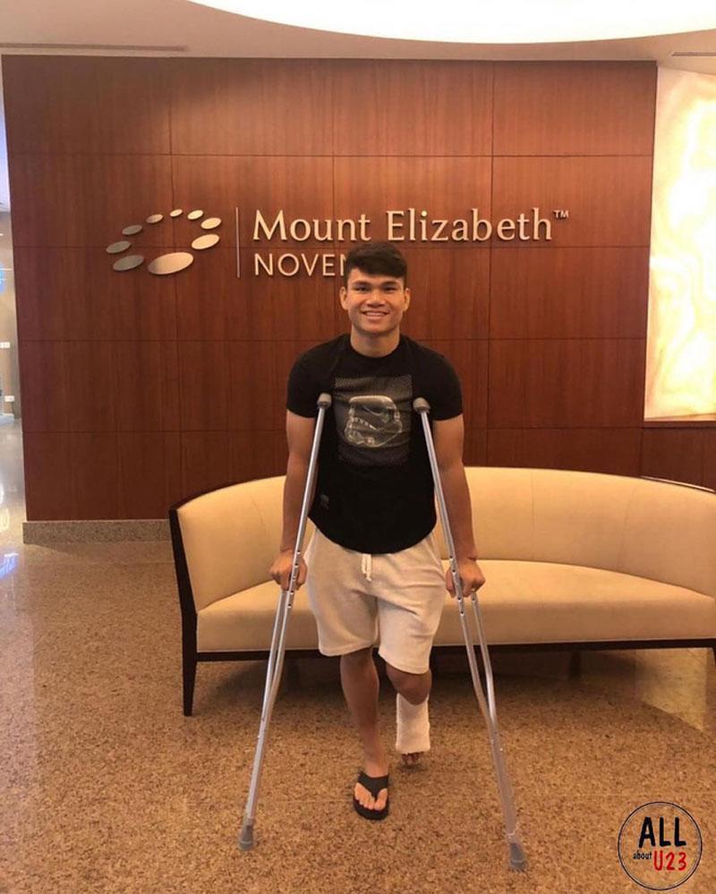 Xuân Mạnh gặp chấn thương nên sẽ vắng mặt tại giải Asian Cup 2019.