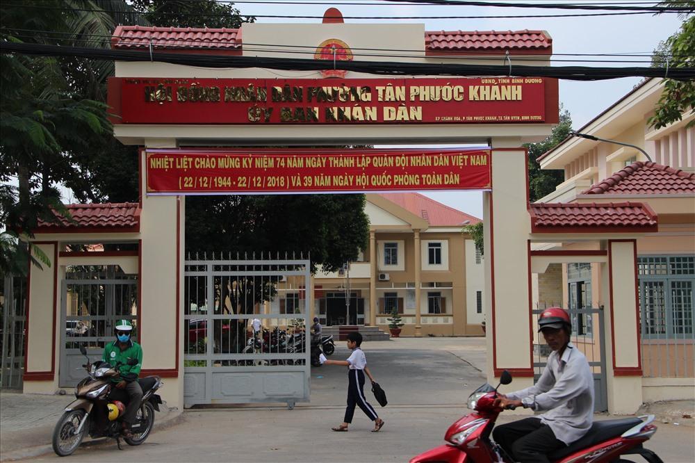 UBND phường Tân Phước Khánh nơi có cán bộ gây khó trong việc giải quyết hồ sơ chứng tử.