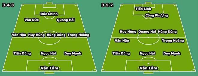 Hai đội hình tối ưu theo sơ đồ 3-4-3 và 3-5-2 của ĐT Việt Nam tại Asian Cup?