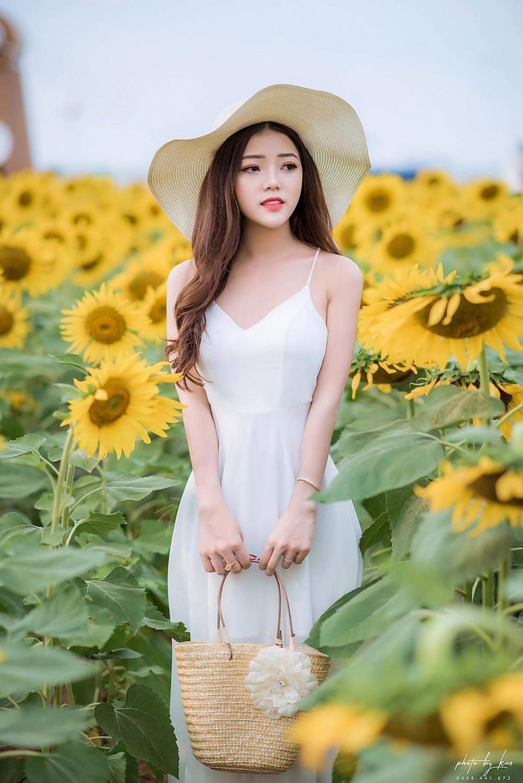 Mới đây, Người đẹp Gia Lai chia sẻ bộ ảnh chụp với hoa hướng dương trên trang cá nhân của mình và nhận được cơn mưa lời khen từ cư dân mạng
