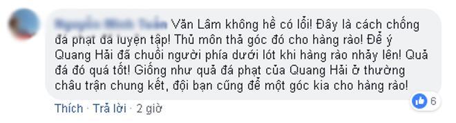 Rất nhiều ý kiến về tình huống của Văn Lâm trên mạng xã hội