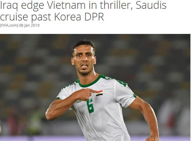 Trang chủ FIFA gọi cuộc đối đầu giữa Việt Nam và Iraq là trận đấu hay nhất từ đầu giải