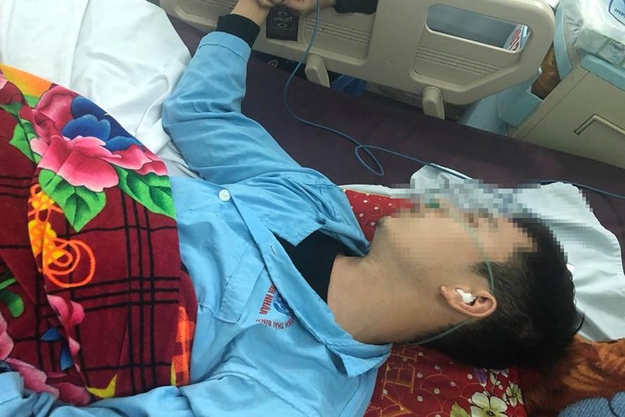 Anh Đặng Văn Lai bị vỡ xương đá, tụ máu não, phù não... hiện đang tiếp tục được điều trị trong bệnh viện. Ảnh: KL.