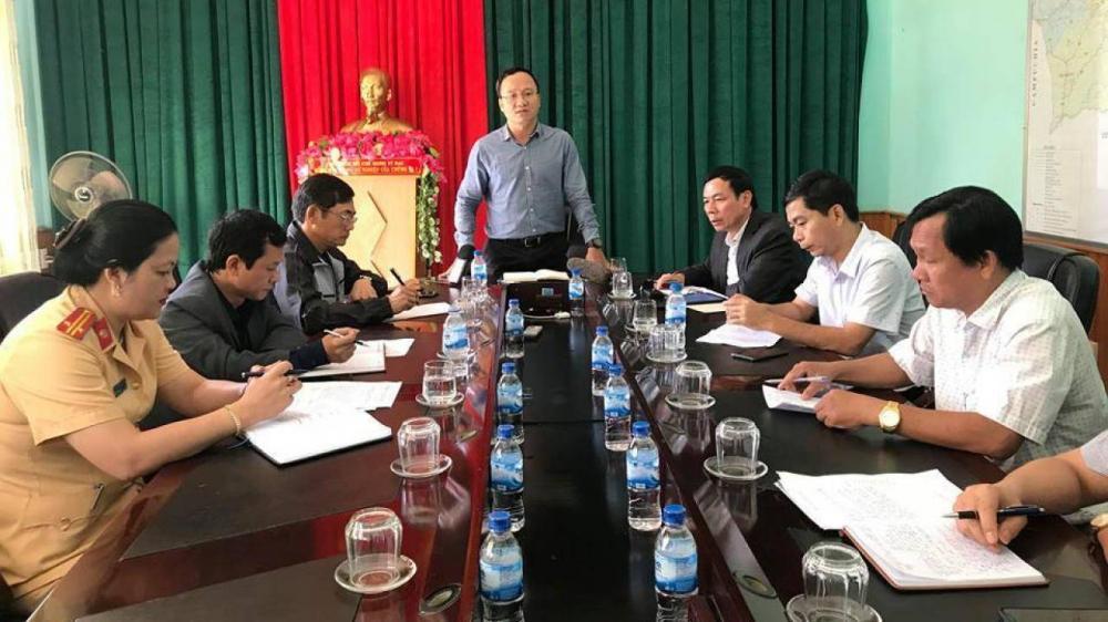 Phó Chủ tịch chuyên trách Uỷ ban ATGT Quốc gia Khuất Việt Hùng chỉ đạo tại buổi làm việc
