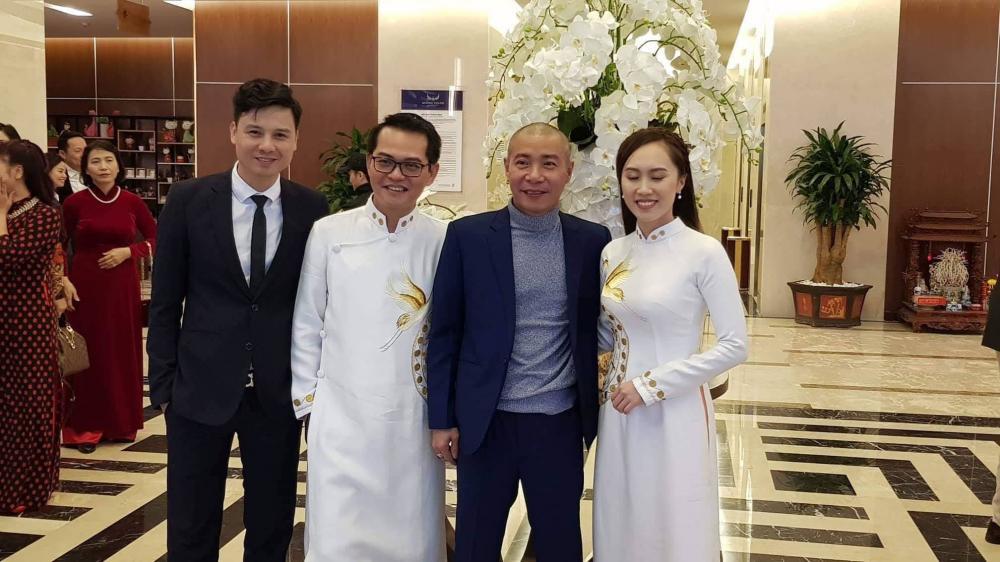 Nghệ sĩ Công Lý, Thiện Tùng cũng có mặt từ hôm qua để chúc mừng bạn thân.
