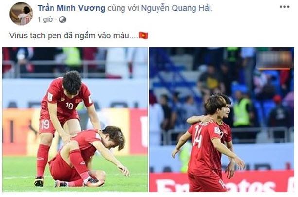 Minh Vương tự nhận 'virus hỏng penalty ngấm vào máu' và lôi Quang Hải vào.
