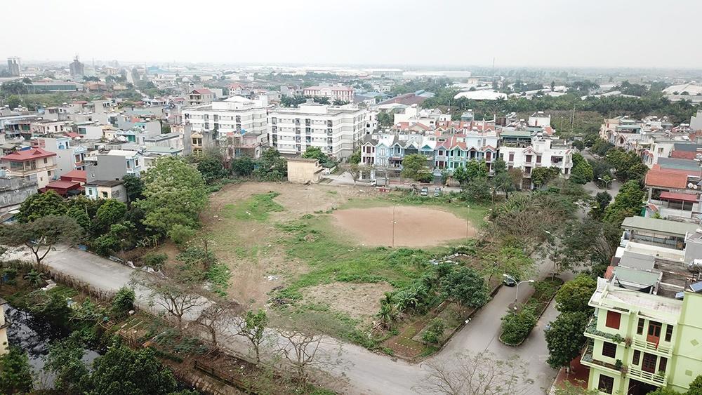 Khu vực quy hoạch xây dựng trường học vẫn chỉ là một bãi đất bỏ không